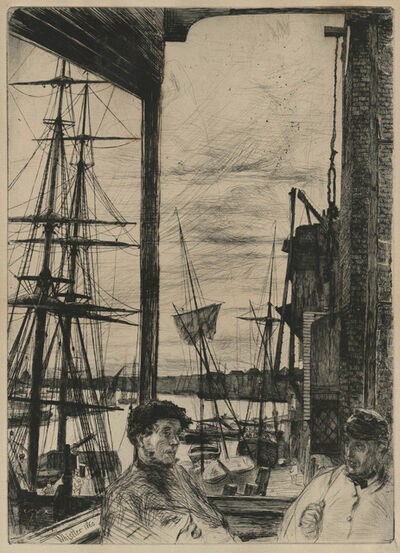 James Abbott McNeill Whistler, 'Rotherhithe', 1860