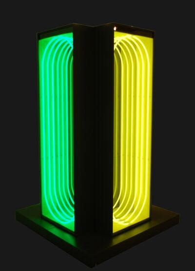 Paolo Scirpa, 'Ludoscopio A – Quadruplo verticale. Espansione curva'