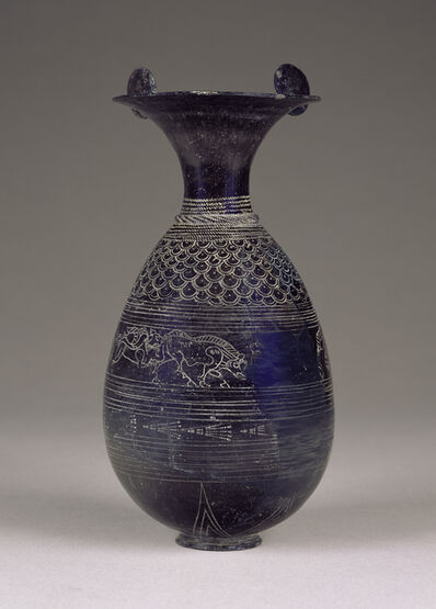'Bucchero Olpe',  about 640 -620 B.C.