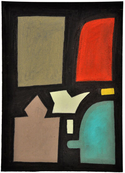 Julian Martin, 'Untitled (shapes on black)', 2012