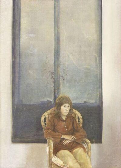 David Tindle, 'PORTRAIT OF JANICE, THREE-QUARTER LENGTH SEATED'