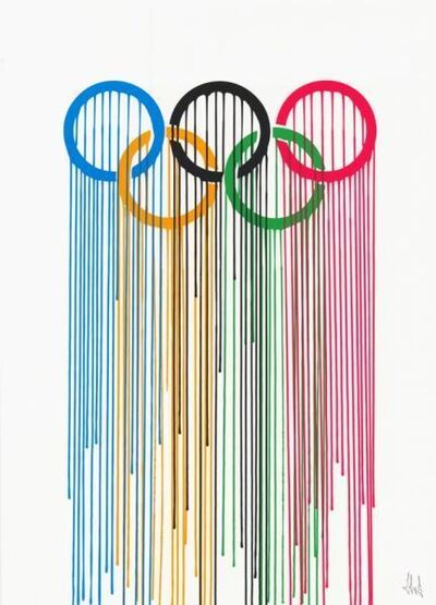 "Zevs, '""Liquidated Olympic Rings""', 2012"