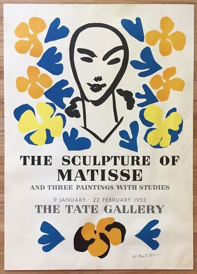 Henri Matisse, 'The Sculpture of Matisse and Three Paintings with Studies, Original Tate Gallery Poster', 1953