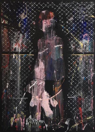 "Dan Baldwin, '""SLEEPWALK – Girl by a fence""', 2017"