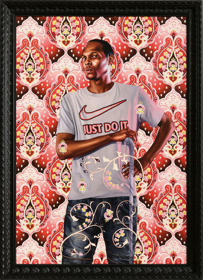 Kehinde Wiley, 'Portrait of Marcus Stokes', 2018