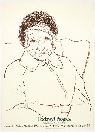 David Hockney, 'Graves Art Gallery 1980 (The Artist's Mother 1978) ', 1980