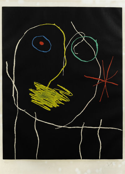 Joan Miró, 'Le prophète de la nuit', 1965