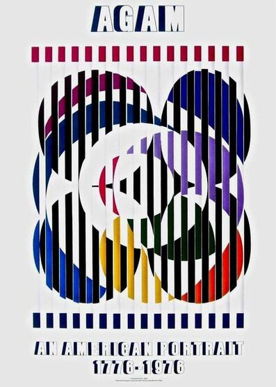 Yaacov Agam, 'An American Portrait, 1976 Mourlot Exhibition Poster', 1976