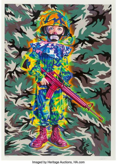 Ron English, 'Camo Clown Boy', 2019
