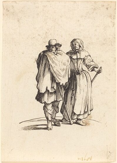 after Jacques Callot, 'Beggar Couple', 17th century