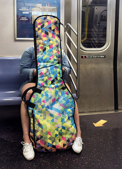 Neil O. Lawner, 'Woman with Bass Guitar, Subway'