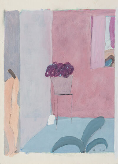 Joy Laville, 'Orange nude leaving room', 1983