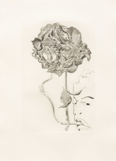 Francesco Clemente, 'Pessimist Rose ', 1989