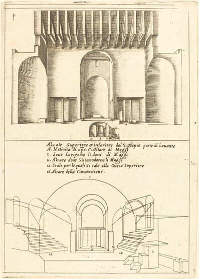 Jacques Callot, 'Elevation of the Church of the Holy Manger', 1619