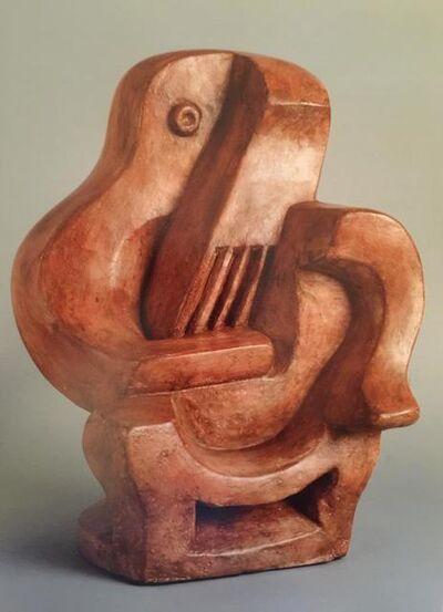 Jacques Lipchitz, 'Homme Assis avec Guitare', 1922