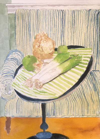 Charlie Scheips, 'Celeriac, Apples and Leeks on a Table', 2020