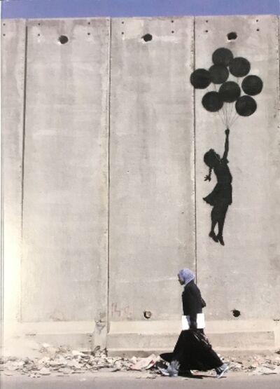 Banksy, 'Banksy Ramallah Checkpoint Palestine 2005 Girl With Balloon Bethlehem ', 2005