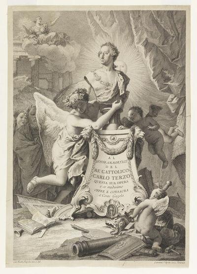 Giambattista Tiepolo, 'Dedication Page to Charles III of Spain and the Two Sicilies, frontispiece for Paolantonio Paoli, Rovine della cittíæ di Pesto detta ancora Posidonia (1784)', ca. 1765