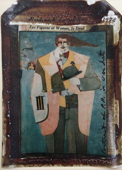 Peter Beard, 'Portrait of P.B. in Croc Hat, Richard Lindner ', 1978