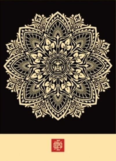 Shepard Fairey, 'Mandala Ornament 2 (Black)', 2010