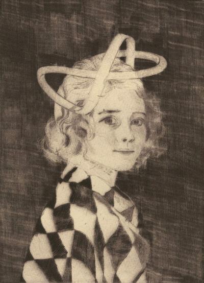 Ellen Heck, 'Amy Wearing a Mobius Strip as a Hat', 2017