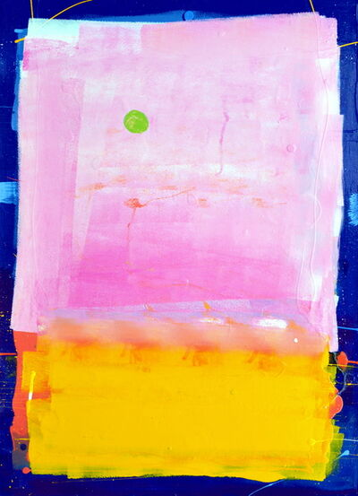 Anthony Hunter, 'Big Pink square above yellow smaller square with a bit of  a green blob floating over there', 2018