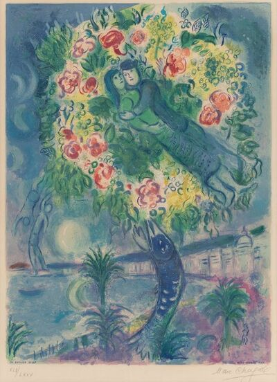 After Marc Chagall, 'Couple et Poisson from Nice and the Cote d'Azur', 1967