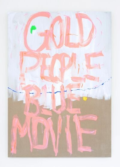 Pope.L, 'Gold People Blue Movie', 2014