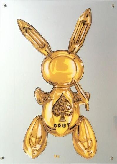 """Dominique Steffens, '""""Golden Party Rabbit"""" (Ace of Spades Brut)', 2019"""