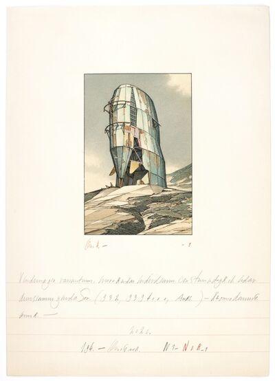 Lebbeus Woods, 'SOLOHOUSE - Exterior View 2', 1989