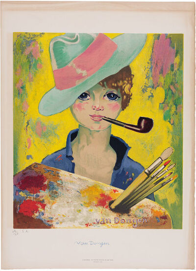 Kees van Dongen, 'LE BONHEUR (JEAN-MARIE WITH HAT AND PIPE) (SEE J. P. 175)', 1955