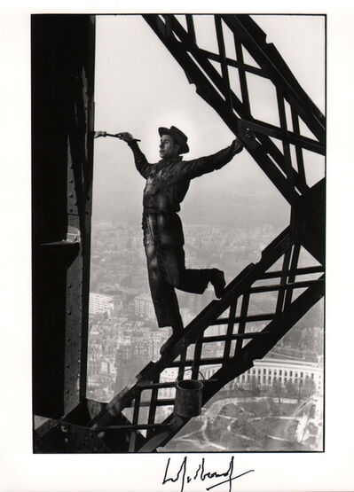 Marc Riboud, 'The Eiffel Tower Painter, Paris', 1953