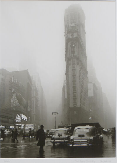 Fred Stein, 'Times Square in the Rain, estate stamped ', 1949-this printing 1994
