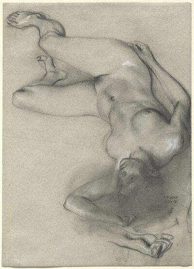 Franz von Stuck, 'Nude Woman Lying on the Ground', 1896