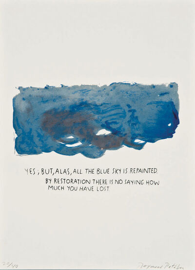 Raymond Pettibon, 'Untitled (Yes, But, Alas)', 1991