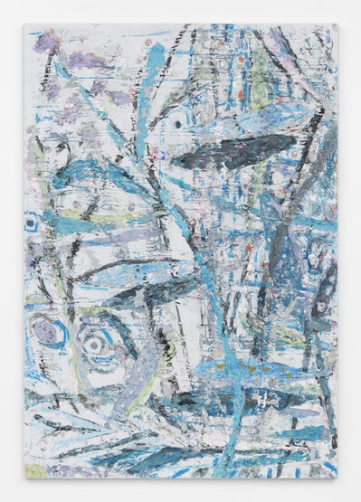 Johannes VanDerBeek, 'Primitive Landscape (Curling Blue Branch)', 2015