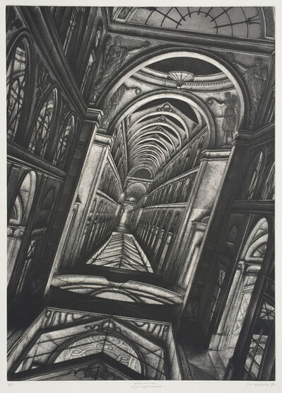 Erik Desmazières, 'Galerie vivienne', 1990