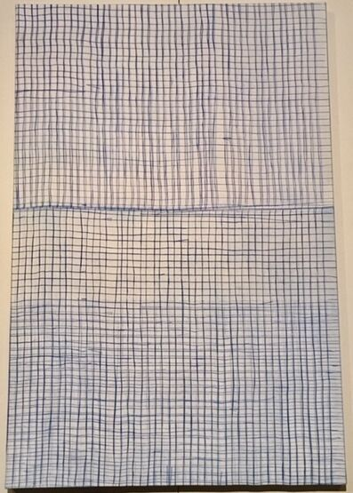 Nora Pauwels, 'Grid-ultramarine blue', 2019