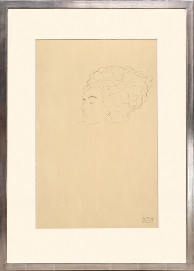 Gustav Klimt, 'Studienkopf (bleistift). Head Study (pencil).', 1919