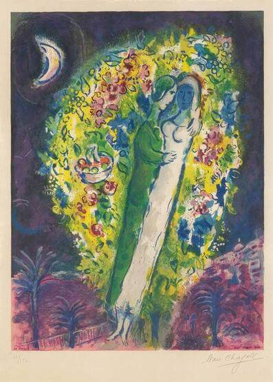 After Marc Chagall, 'COUPLE DANS LES MIMOSAS (MOURLOT CS. 32)', 1967