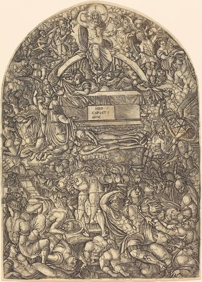 Jean Duvet, 'A Star Falls and Makes Hell to Open', 1546/1556