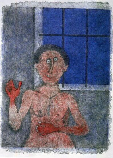 Rufino Tamayo, 'La Coqueta (The Flirt) from the 90th Anniversary suite (90 Aniversario)', 1989
