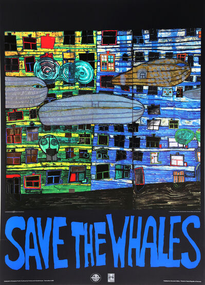 Friedensreich Hundertwasser, 'Save the Whales (Song of the Whales)', 1982