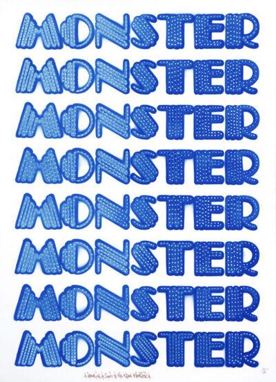 Ben Eine, 'Neon Monster', 2006
