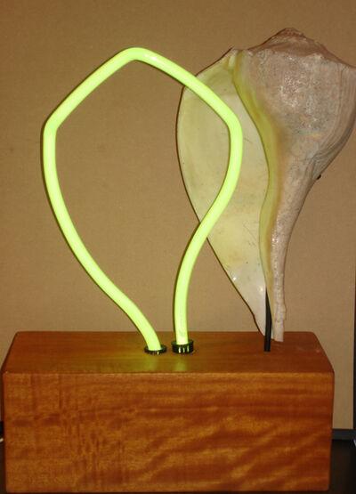 Margery Goldberg, 'Electric Yellow Shell on Aspen (neon)'