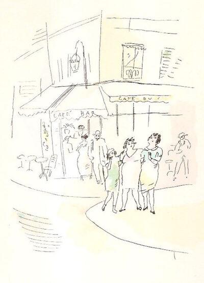 Jules Pascin, '3 petites filles dans la rue.  Dessins en couleurs de Pascin', 1925