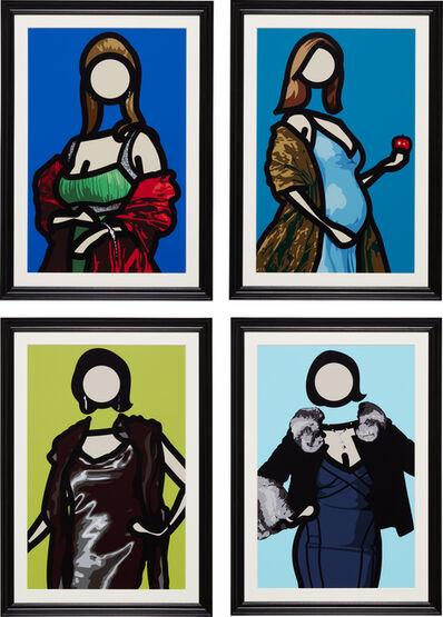 Julian Opie, 'Maria. (1); Maria. (2); Felicia.; and Mirjam.', 2011