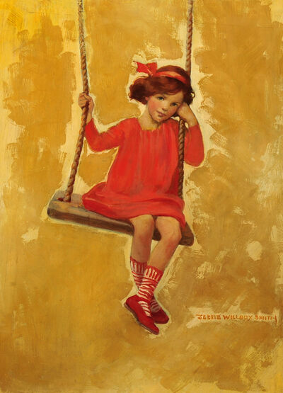 JESSIE WILLCOX SMITH, 'Girl on Swing'