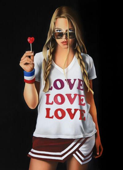 Tara Lewis, 'Commission Portrait T-Shirt Painting'
