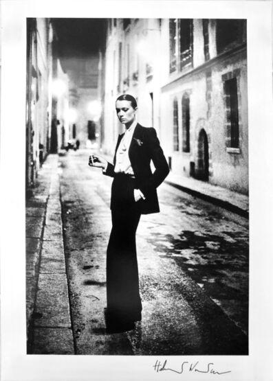 Helmut Newton, 'Rue Aubriot, Yves St Laurent', 1975